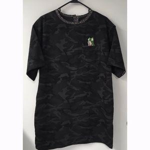 MARC JACOBS Camo Cotton T-Shirt Dress